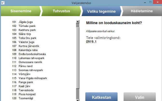 Beta testing of Estonia's voting app. Aug. 16, 2017.