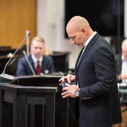 Paavo Pettai testifying in Harju County Court on Thursday. Aug. 17, 2017.
