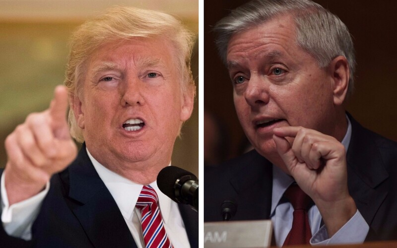 Donald Trump ja Lindsey Graham.