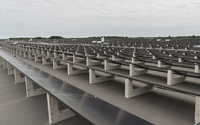 Coop solar park in Rae Municipality, outside of Tallinn.