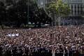 Минута молчания в память о жертвах теракта в Барселоне.
