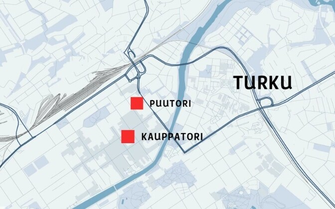 The scenes of the stabbings in Turku on Friday afternoon. Aug. 18, 2017.