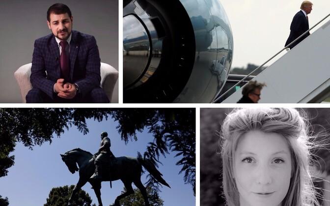 Turu ründajale vastu astunud ettevõtja Hasan Alazawii, Steve Bannon ja Donald Trump, lõunaosariikide kindrali Robert E. Lee monument Charlottesville'is ja kadunud ajakirjanik Kim Wall.