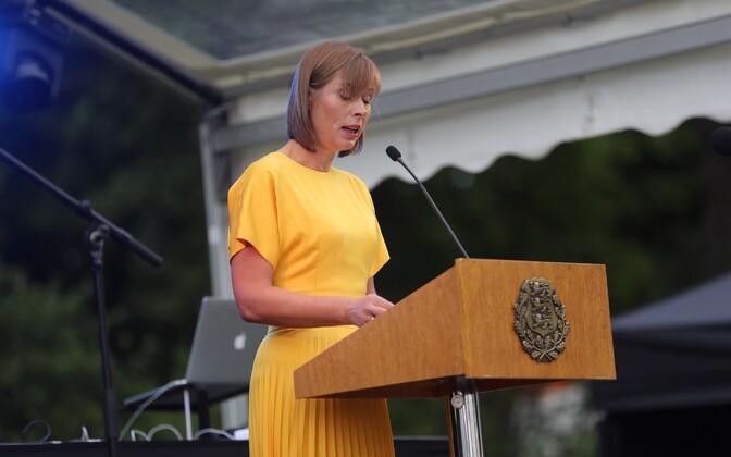 President Kersti Kaljulaid in Kadriorg, Aug. 20, 2017.