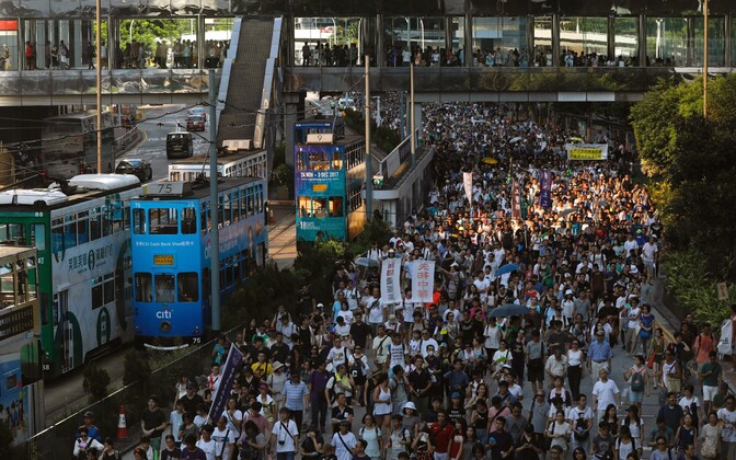 Meeleavaldus Hongkongis.