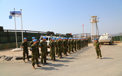 The Estonian unit of the Irish-Finnish UN peacekeeping battalion stationed on the Israeli-Lebanese border also celebrated the day.