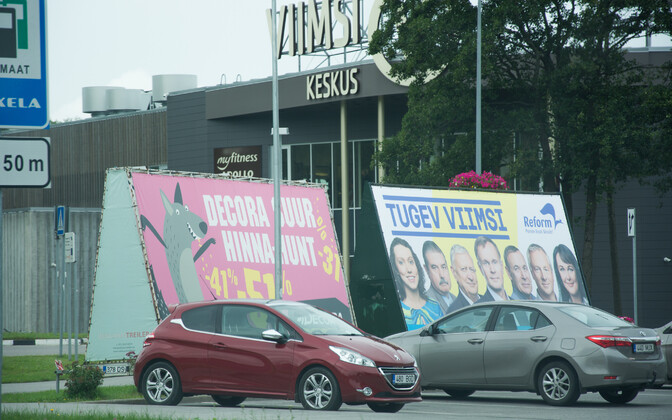 Campaign billboards, such as this one for the Reform Party spotted in Viimsi, can be seen all over Estonia.