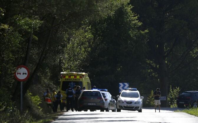 Полиция застрелила человека, на котором был начиненный взрывчаткой пояс