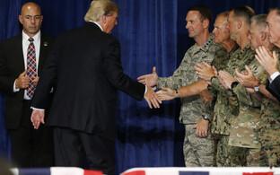 President Trump Afganistani strateegia tutvustamisel.