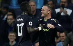 Wayne Rooney värava üle rõõmustamas.