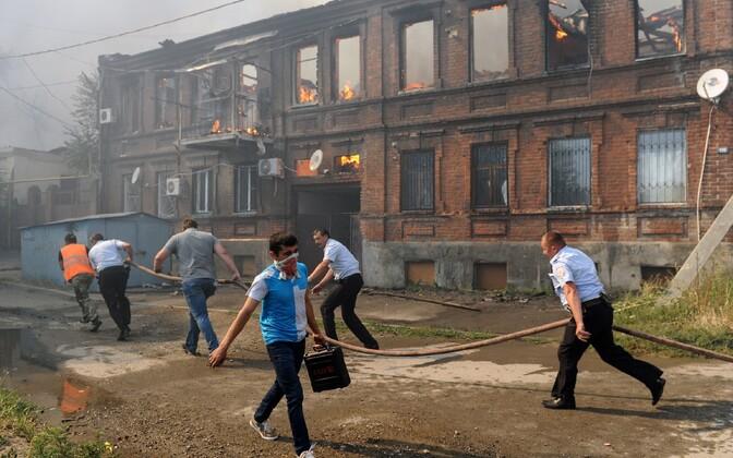 Suurpõleng Doni-äärses Rostovis 21. augustil.
