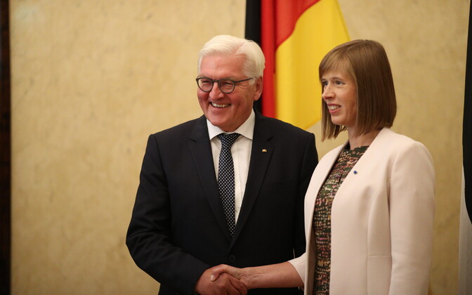 Steinmeier and Kaljulaid in Kadriorg, Aug. 22, 2017.
