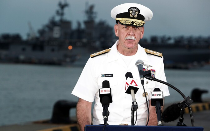 Admiral Scott Swift pressikonverentsil Singapuris 22. augustil.