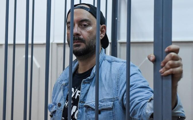 Lavastaja Kirill Serebrennikov 23. augustil Moskvas kohtusaalis.