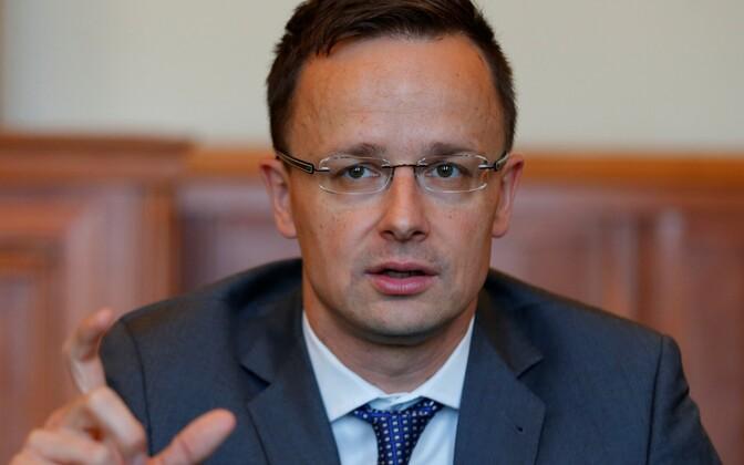Министр иностранных дел Венгрии Петер Сиярто.