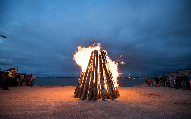 Bonfire in Tallinn.