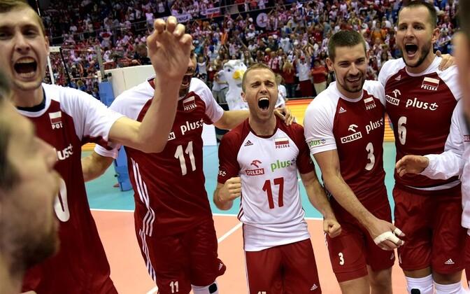 Poola võrkpallikoondis pärast mängu Soome vastu