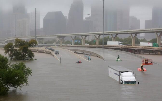 Üleujutatud Houstoni linn Texases.
