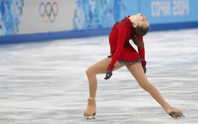 Юлия Липницкая на Олимпийских играх в Сочи.