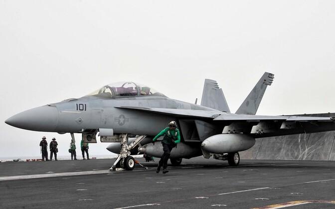 USA hävituslennuk F/A-18 Super Hornet.