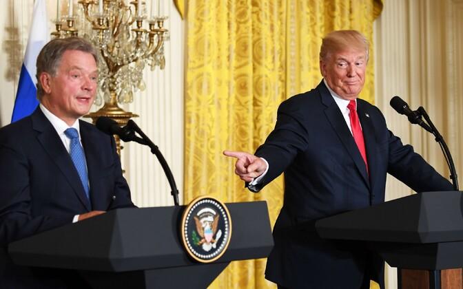 Niinistö ja Trump Valges Majas 28. augustil.
