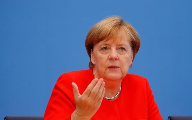 Angela Merkel pressikobverentsil Berliinis 29. augustil.