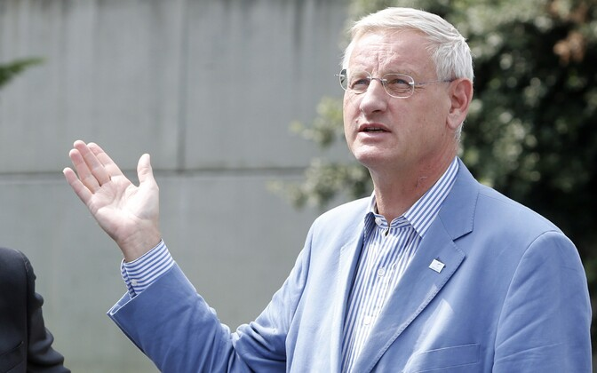 Carl Bildt, pictured in 2014 when still Swedish foreign minister.
