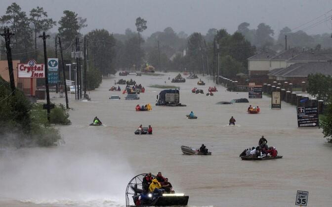 Olukord tormist ja üleujutustest räsitud Houstonis 28. ja 29. augustil.