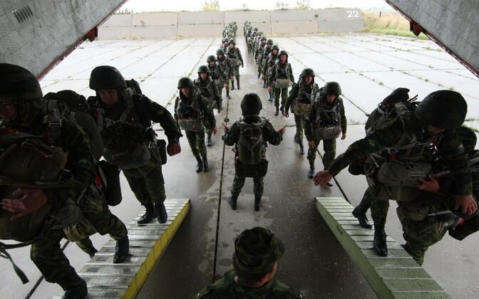 Vene õhudessantväelased teel õppusele Zapad