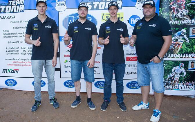 Team Estonia 2016 eelmine aasta Itaalias, (vasakult) Rätsep, Leok, Kullas ja Roosiorg