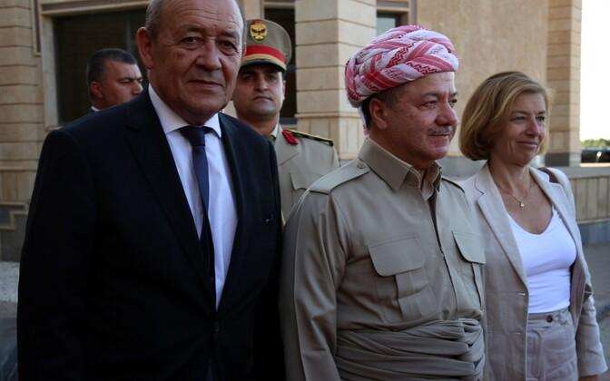 Министр иностранных дел Франции Жан-Ив Ле Дриан в Эрбиле.