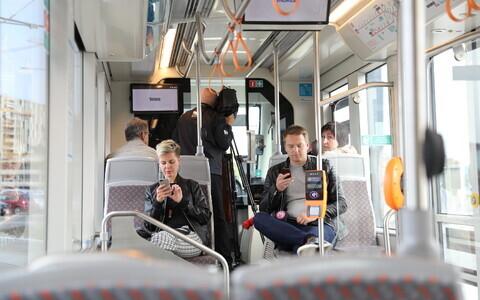 A new tram in Tallinn.