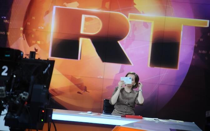 Russia Today ingliskeelse telekanali stuudio.