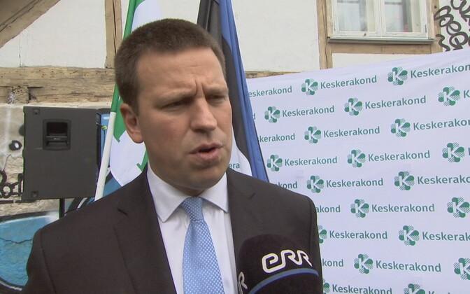 Center Party chairman Jüri Ratas.