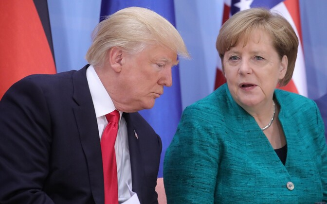 Donald Trump ja Angela Merkel.