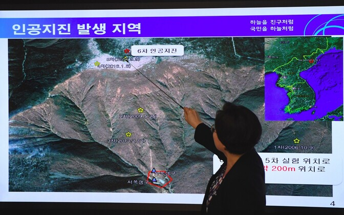 North Korea's nuclear test caused a magnitude-6.3 tremor.