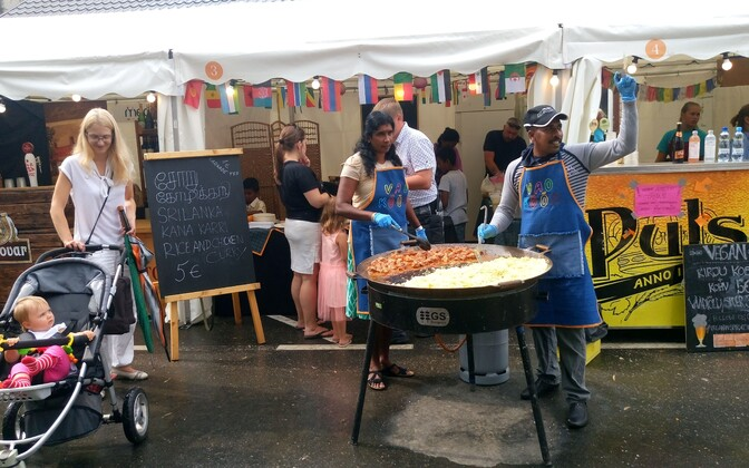 A Vao Köök (kitchen) offering street food prepared by residents of the Vao center in June.