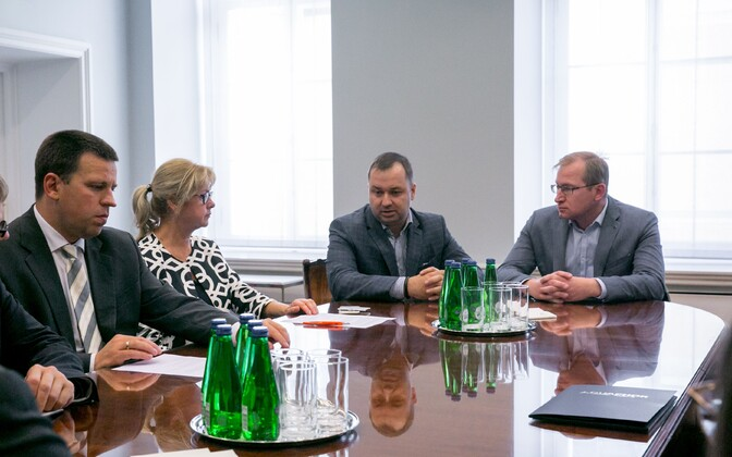 Юри Ратас на встрече с делегацией предпринимателей Ида-Вирумаа