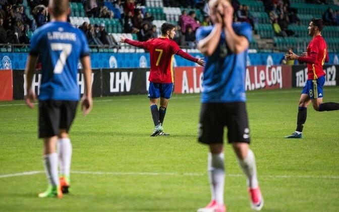 Сборная Эстонии проиграла испанцам со счетом 0:1.