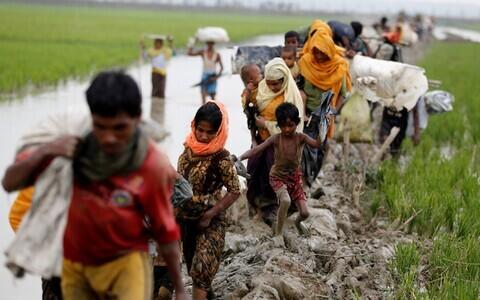 Беженцы из Мьянмы.