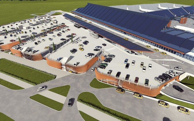 Renders of the planned Tallinn Airport parking garage.