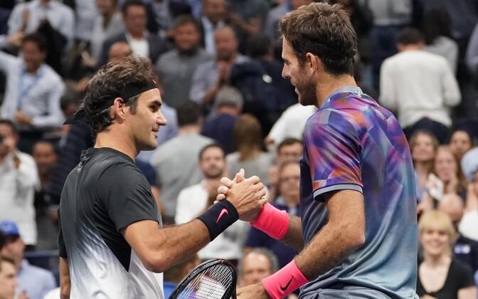 Roger Federer ja Juan Martin Del Potro