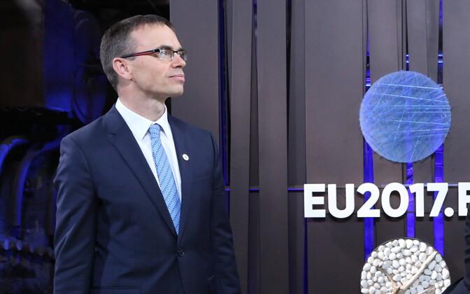 Minister of Foreign Affairs Sven Mikser (SDE) at Tallinn Creative Hub on Thursday. Sept. 7, 2017.