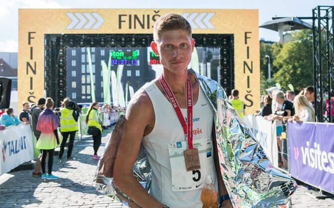 Heinar Vaine 2016. aasta maratoni EMV finišis