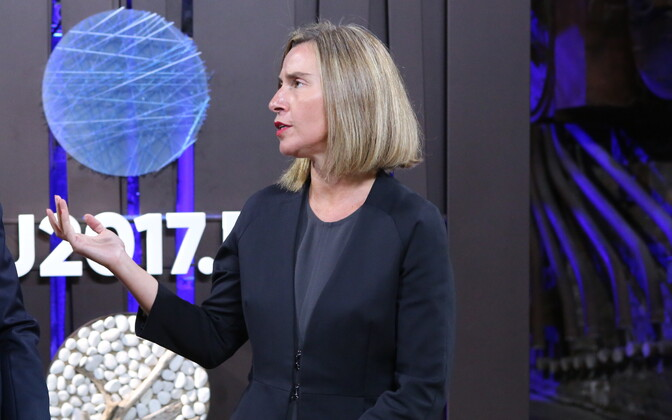 EU High Representative Federica Mogherini at Tallinn Creative Hub on Thursday. Sept. 7, 2017.