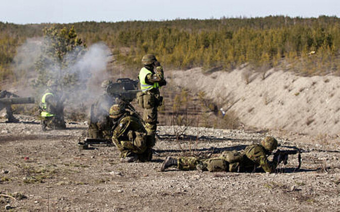 Вируский пехотный батальон на стрельбище