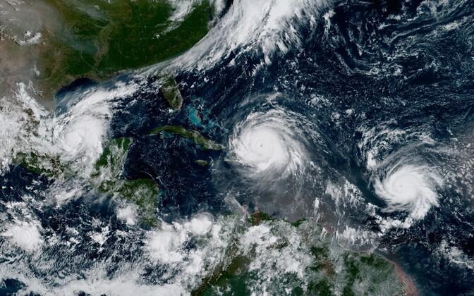 Orkaanid Irma, Jose (paremal) ja Katia (vasakul).