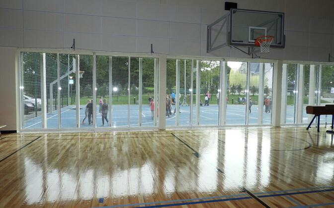 Спортхолл в Синимяэской школе.