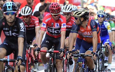 Chris Froome ja Vincenzo Nibali 19. etapi finišis