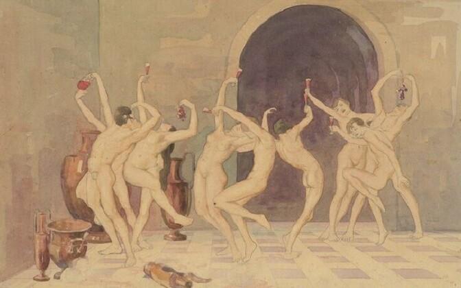 Eduard Verber (1877–1927) Vein ja veri. 1927 Akvarell, grafiit Narva Muuseum